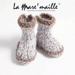 Chaussons bébé maille laine...