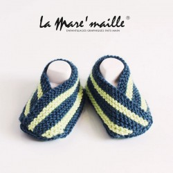 Chaussons bébé coton bleu...