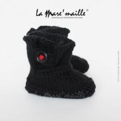 Chaussons bébé laine noire...