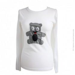 tee-shirt femme blanc n°190