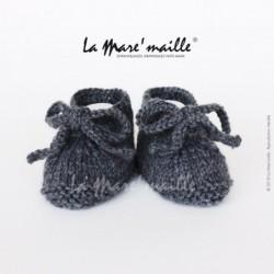Chaussons bébé laine look...