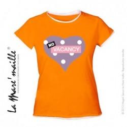 Tee-shirt femme orange...