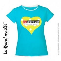 Tee-shirt femme bleu coeur...