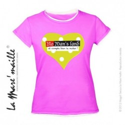 Tee-shirt femme rose coeur...