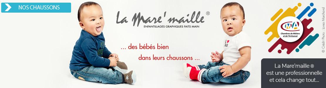 chaussons bébé pratiques et confortables faits main en france